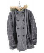 MIHARA YASUHIRO(ミハラヤスヒロ)の古着「WFlannelCoat」|グレー