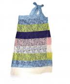 maturely(マチュアリー)の古着「Multi Lace Unit Dress/マルチレースドレ」|ブルー