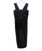 COMME des GARCONS(コムデギャルソン)の古着「ラッフルトリムジャンパースカート」|ブラック