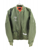 PAM(ファム)の古着「EMBROIDERED MA-1」|オリーブ