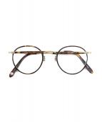GARRETT LEIGHT CALIFORNIA OPTICAL(ギャレット・ライト・カリフォルニア・オプティカル)の古着「WILSON/眼鏡/アイウェア」 ブラウン