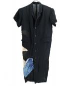 Ys(ワイズ)の古着「ロングシャツ」|ブラック