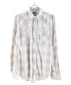 Engineered Garments(エンジニアードガーメン)の古着「ウエスタンシャツ」 グレー