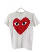 PLAY COMME des GARCONS(プレイコムデギャルソン)の古着「Tシャツ」|ホワイト