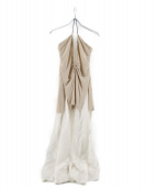TOGA PULLA(トーガ プルラ)の古着「2WAYワンピース」|ホワイト×ベージュ