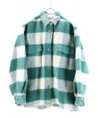 6(ROKU) BEAUTY&YOUTH(ロクビューティアンドユース)の古着「WOOL CHECK CPO JACKET」 グリーン