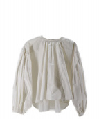 CLANE(クラネ)の古着「BALLOON PLEAT TOPS」 ホワイト