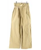 CLANE(クラネ)の古着「ASYMMETRY WORK PANTS」|ベージュ