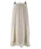 MARTE(マルテ)の古着「Fringe Knit Skirt」 ホワイト
