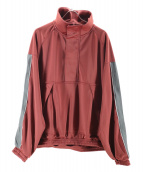 Name.(ネイム)の古着「SIDE LINE PULLOVER TRACKJACKET」|ワインレッド