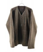 HOMME PLISSE ISSEY MIYAKE(オム プリッセ イッセイ ミヤケ)の古着「プリーツジャケット」|ベージュ