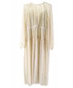 CLANE(クラネ)の古着「SEE-THROUGH FLOWER ONE PIECE」|ホワイト