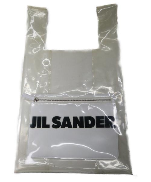 JIL SANDER(ジルサンダー)JIL SANDER (ジルサンダー) MARKET BAG MD W/POCKET ホワイト 国内参考定価84.240円-の古着・服飾アイテム