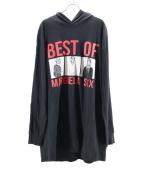 MM6(マルタンマルジェラ エムエム6)の古着「パーカーワンピース」|ブラック