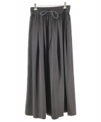 saqui(サキ)の古着「gathered wide pants/ワイドパンツ」|ブラック