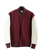 6(ROKU) BEAUTY&YOUTH(ロク)の古着「スタジャン」|ボルドー