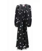 Kate Spade(ケイトスペード)の古着「スペードクローバーラップドレス」|ブラック
