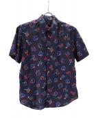 PS Paul Smith(ピーエスポールスミス)の古着「総柄半袖シャツ」|ネイビー