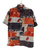 Paul Smith JEANS(ポールスミスジーンズ)の古着「半袖シャツ」|ベージュ×オレンジ