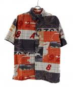 Paul Smith JEANS(ポールスミス ジーンズ)の古着「半袖シャツ」|ベージュ×オレンジ