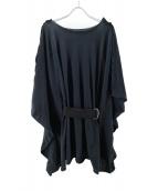 LIMI feu(リミフゥ)の古着「ベルト付デザインニット」|ブラック