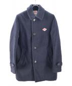 DANTON(ダントン)の古着「WOOL MOSSER レギュラーカラーシングルコート」|ネイビー