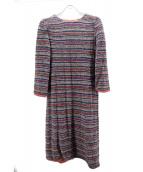 mina perhonen(ミナ ペルホネン)の古着「ニットワンピース」|レッド