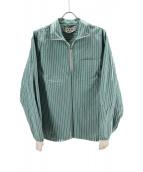 MARNI(マルニ)の古着「ハーフジップストライプシャツ」|グリーン