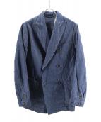 45rpm(45アールピーエム)の古着「デニムダブルジャケット」|インディゴ