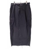 H(アッシュ)の古着「BDUリメイクスカート」|ブラック