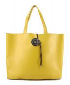 MM6 Maison Martin Margiela(エムエムシックス メゾンマルタンマルジェラ)の古着「CALF LEATHER / PAPER TOTE BAG」|イエロー