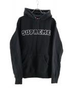 Supreme(シュプリーム)の古着「Cord Collegate Logo Hooded Swe」|ブラック