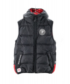 AAPE BY A BATHING APE(エーエイプ バイ ア ベイシング エイプ)の古着「THINSULATE REVERSIBLE REG VEST」|レッド×ブラック