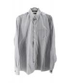 LOUIS VUITTON(ルイヴィトン)の古着「ボタンダウンストライプシャツ」|ブルー