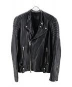 ALL SAINTS(オールセインツ)の古着「シープレザーライダースジャケット」|ブラック