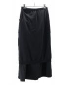 YOHJI YAMAMOTO(ヤマモトヨウジ)の古着「レイヤードニットスカート」|ブラック