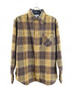 TONE(トーン)の古着「ウールチェックシャツ」|ベージュ
