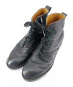 YUKETEN(ユケテン)の古着「シボレザータンカーブーツ」|ブラック