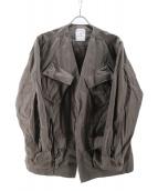BLUEY(ブルーイ)の古着「ノーカラーファティーグジャケット」|グレー