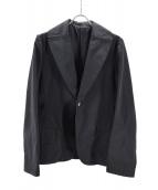 yohji yamamoto+Noir(ヨウジヤマモトプリュスノアール)の古着「ナイロン混ジャケット」|ブラック