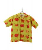 FLAGSTUFF(フラッグスタッフ)の古着「イリーガルS/Sシャツ」|イエロー×レッド