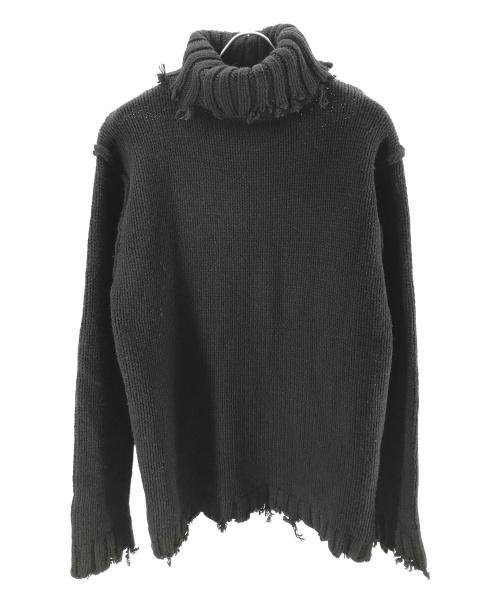 PERVERZE(パーバーズ)PERVERZE (パーバーズ) クラッシュチューブタートルネックニット ブラック サイズ:Fの古着・服飾アイテム