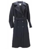 AMERI(アメリ)の古着「バッグプリーツコート」|ネイビー