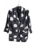 DIESEL(ディーゼル)の古着「総柄レーヨンジャケット」|グレー×ブラック