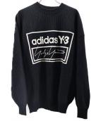 Y-3(ワイスリ-)の古着「テックニットクルーネックセーター」 ブラック