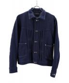 45R(フォーティファイブアール)の古着「ニットデニムのGジャン」|インディゴ
