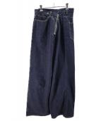 Graphpaper(グラフペーパー)の古着「ラップデニムパンツ」|インディゴ
