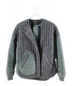 nagonstans(ナゴンスタンス)の古着「ナイロンツイルコンビジャケット」|グレー×カーキ