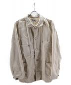 FACTOTUM(ファクトタム)の古着「ワークデニムジャケット」 ホワイト