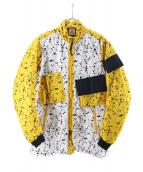 NIKE ACG(ナイキエーシージー)の古着「ドットテキスタイルジャケット」|ホワイト×イエロー